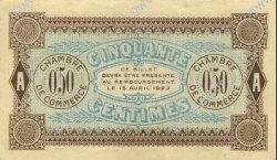 50 Centimes FRANCE régionalisme et divers AUXERRE 1920 JP.017.24 SPL à NEUF