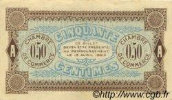 50 Centimes FRANCE régionalisme et divers AUXERRE 1920 JP.017.24 TTB à SUP