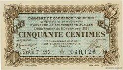 50 Centimes FRANCE régionalisme et divers AUXERRE 1921 JP.017.27 SPL à NEUF