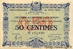50 Centimes FRANCE régionalisme et divers Avignon 1915 JP.018.01 SPL à NEUF