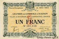 1 Franc FRANCE régionalisme et divers AVIGNON 1915 JP.018.05 TTB à SUP