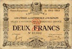 2 Francs FRANCE régionalisme et divers AVIGNON 1915 JP.018.08 TB