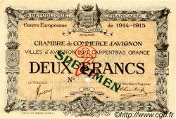 2 Francs FRANCE régionalisme et divers AVIGNON 1915 JP.018.09 SPL à NEUF