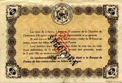 2 Francs FRANCE régionalisme et divers AVIGNON 1915 JP.018.09 TTB à SUP