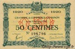 50 Centimes FRANCE régionalisme et divers Avignon 1920 JP.018.22 TTB à SUP