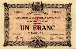 1 Franc FRANCE régionalisme et divers AVIGNON 1920 JP.018.24 SPL à NEUF