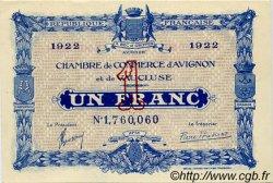 1 Franc FRANCE régionalisme et divers AVIGNON 1922 JP.018.31 SPL à NEUF