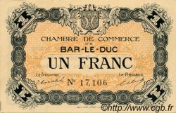 1 Franc FRANCE régionalisme et divers Bar-Le-Duc 1918 JP.019.03 SPL à NEUF