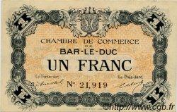1 Franc FRANCE régionalisme et divers Bar-Le-Duc 1918 JP.019.03 TTB à SUP