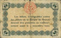 1 Franc FRANCE régionalisme et divers Bar-Le-Duc 1920 JP.019.03 TB