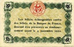 50 Centimes FRANCE régionalisme et divers Bar-Le-Duc 1920 JP.019.07 SPL à NEUF