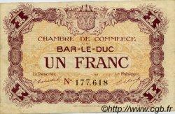 1 Franc FRANCE régionalisme et divers Bar-Le-Duc 1918 JP.019.08 TTB à SUP