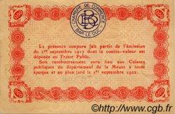 50 Centimes FRANCE régionalisme et divers BAR-LE-DUC 1917 JP.019.09 TTB à SUP