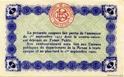 1 Franc FRANCE régionalisme et divers BAR-LE-DUC 1917 JP.019.11 SPL à NEUF