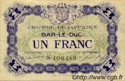 1 Franc FRANCE régionalisme et divers BAR-LE-DUC 1917 JP.019.11 TTB à SUP