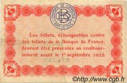 1 Franc FRANCE régionalisme et divers BAR-LE-DUC 1917 JP.019.15 TTB à SUP