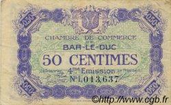 50 Centimes FRANCE régionalisme et divers Bar-Le-Duc 1917 JP.019.19 TB