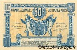 50 Centimes FRANCE régionalisme et divers BASSES-ALPES 1917 JP.020.01 SPL à NEUF