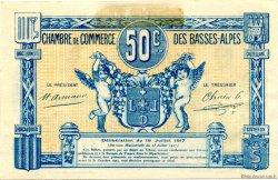 50 Centimes FRANCE régionalisme et divers Basses-Alpes 1917 JP.020.01 TTB à SUP