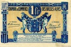 1 Franc FRANCE régionalisme et divers BASSES-ALPES 1917 JP.020.02 SPL à NEUF