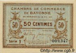 50 Centimes FRANCE régionalisme et divers Bayonne 1915 JP.021.01 SPL à NEUF