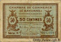50 Centimes FRANCE régionalisme et divers Bayonne 1915 JP.021.01 TB