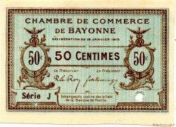 50 Centimes FRANCE régionalisme et divers Bayonne 1915 JP.021.03 SPL à NEUF