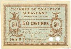 50 Centimes FRANCE régionalisme et divers Bayonne 1915 JP.021.04 TTB à SUP