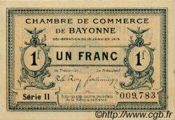 1 Franc FRANCE régionalisme et divers BAYONNE 1915 JP.021.13 SPL à NEUF