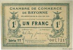 1 Franc FRANCE régionalisme et divers BAYONNE 1915 JP.021.13 TTB à SUP