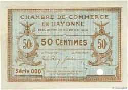 50 Centimes FRANCE régionalisme et divers Bayonne 1916 JP.021.25 TTB à SUP