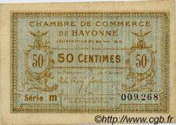 50 Centimes FRANCE régionalisme et divers BAYONNE 1916 JP.021.26 TB