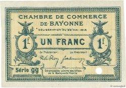 1 Franc FRANCE régionalisme et divers Bayonne 1916 JP.021.31 TTB à SUP