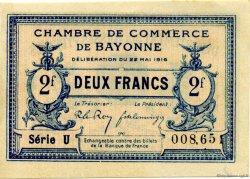 2 Francs FRANCE régionalisme et divers BAYONNE 1916 JP.021.36 SPL à NEUF