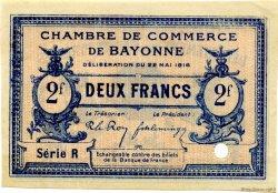2 Francs FRANCE régionalisme et divers BAYONNE 1916 JP.021.38 SPL à NEUF