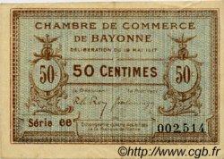 50 Centimes FRANCE régionalisme et divers BAYONNE 1917 JP.021.42 TTB à SUP