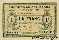 1 Franc FRANCE régionalisme et divers Bayonne 1917 JP.021.45 SPL à NEUF