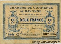 2 Francs FRANCE régionalisme et divers Bayonne 1917 JP.021.52 TB