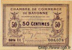 50 Centimes FRANCE régionalisme et divers Bayonne 1918 JP.021.55 TTB à SUP