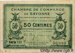 50 Centimes FRANCE régionalisme et divers Bayonne 1919 JP.021.61 TTB à SUP
