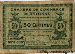 50 Centimes FRANCE régionalisme et divers BAYONNE 1919 JP.021.61 TB