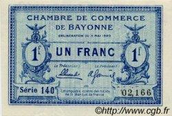 1 Franc FRANCE régionalisme et divers Bayonne 1920 JP.021.67 SPL à NEUF