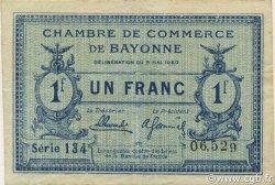 1 Franc FRANCE régionalisme et divers BAYONNE 1920 JP.021.67 TTB à SUP
