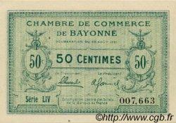 50 Centimes FRANCE régionalisme et divers Bayonne 1921 JP.021.69 SPL à NEUF