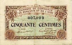50 Centimes FRANCE régionalisme et divers BEAUVAIS 1920 JP.022.01 TTB à SUP