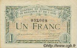1 Franc FRANCE régionalisme et divers BEAUVAIS 1920 JP.022.02 TTB à SUP