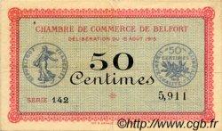 50 Centimes FRANCE régionalisme et divers Belfort 1915 JP.023.01 TTB à SUP
