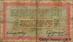 50 Centimes FRANCE régionalisme et divers BELFORT 1915 JP.023.01 TB