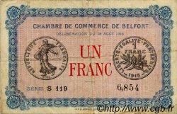 1 Franc FRANCE régionalisme et divers Belfort 1915 JP.023.09 TB