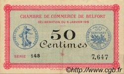 50 Centimes FRANCE régionalisme et divers Belfort 1916 JP.023.17 TTB à SUP